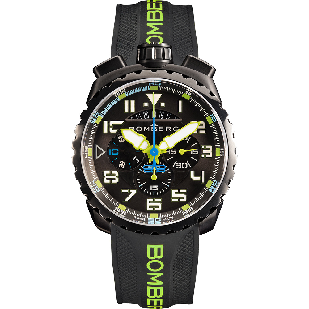 BOMBERG 炸彈錶 BOLT-68 NEON 飛行計時碼錶-45mm