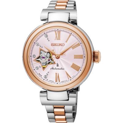 SEIKO精工 LUKIA 美好星時代機械女錶(SSA818J1)-粉x雙色/34mm