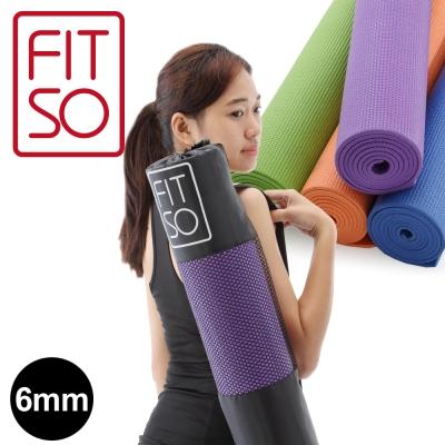 【FIT SO】PVC 瑜珈墊6mm-橘