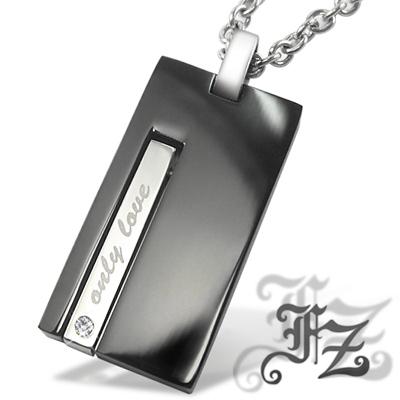 【FZ】堅毅白鋼項鍊(黑鋼小款)