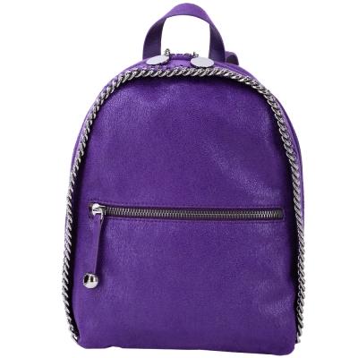 Stella McCartney Falabella 鍊帶滾邊後背包(紫色)