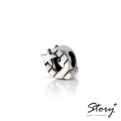 STORY故事銀飾-串珠墜飾-字母珠 Q