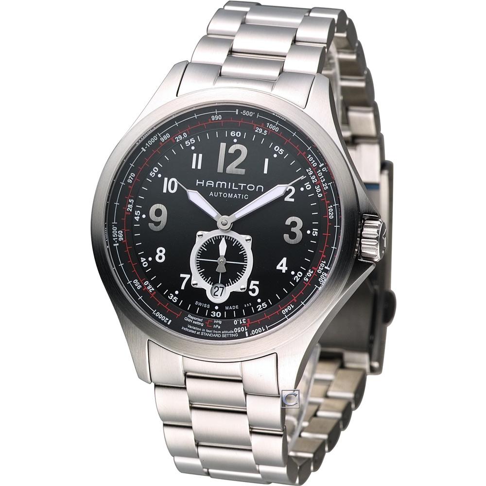 HAMILTON Khaki 航空自動機械腕錶-黑/42mm