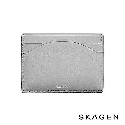 SKAGEN CARD CASE 真皮名片夾-灰色
