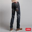 【EDWIN】大尺碼 B.T W.F中直筒保溫褲-男款(原藍磨)