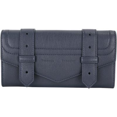 PROENZA SCHOULER PS1 山羊皮革釦式長夾(深藍色)