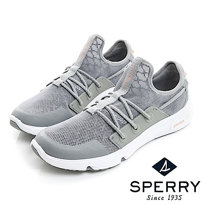 SPERRY 7SEAS釦環包覆運動時尚休閒鞋(女款)-灰