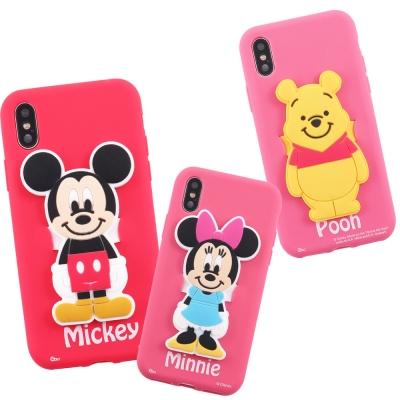 Disney迪士尼iPhone  X經典人物可立式硅膠手機軟殼套