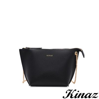 KINAZ-微風輕舞鍊帶斜背包-星夜黑-雲朵系列
