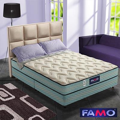 法國FAMO二線 釋壓 獨立筒床墊 針織+記憶膠麵包床 雙人加大6尺