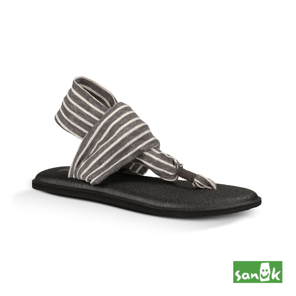 SANUK 條紋瑜珈墊人字涼鞋-女款 (灰白色)SWS10535 CNST