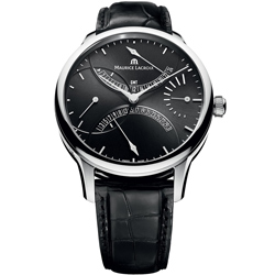 Maurice Lacroix 匠心系列GMTˇ第二時區雙回撥機械錶-黑/43mm