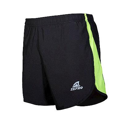 【ZEPRO】男子JOG 馬拉松慢跑短褲-黑