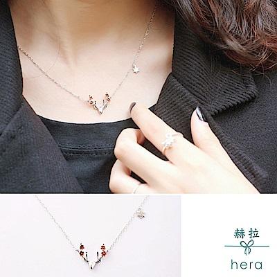 Hera 赫拉 925純銀素銀磨砂小麋鹿森林系項鍊
