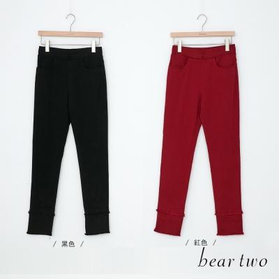 beartwo 彈力鬚邊造型內搭褲(二色)