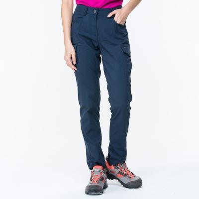 【ATUNAS 歐都納】女款驅蚊/防曬/都會窄管休閒長褲 A-PA1708W 深藍