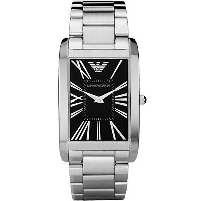 ARMANI 羅馬風情義式時尚腕錶-黑/31mm