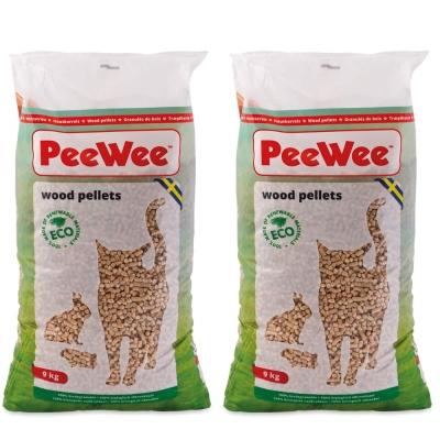 PeeWee必威 強效松木砂 9kg x 2包入