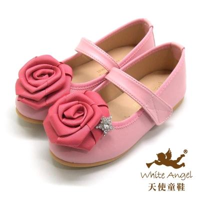 天使童鞋 J801香頌星鑽玫瑰公主鞋 粉