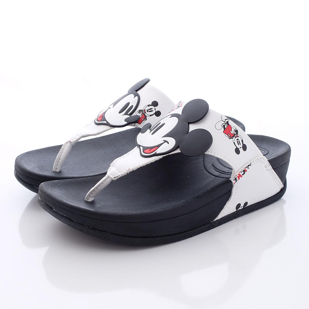 Disney迪士尼-輕量Mickey拖鞋-FO64756白(女段)