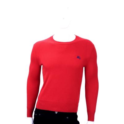 BURBERRY 紅色傳統細節設計喀什米爾套頭衫(100%CASHMERE)