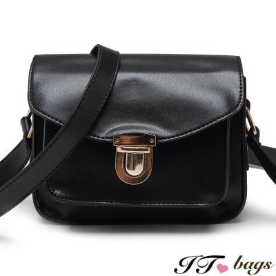 It-Bags低調文青款壓釦輕巧馬鞍包-共五色