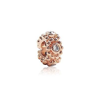 Pandora 潘朵拉 玫瑰金水鑽 純銀墜飾 串珠