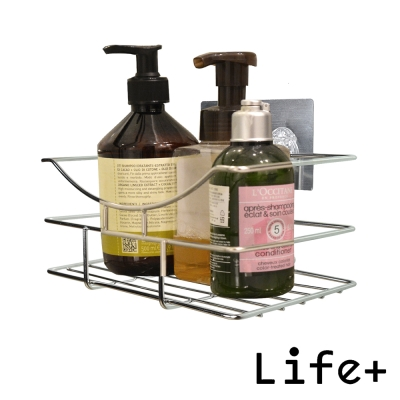 Life Plus 環保無痕魔力貼掛勾-瓶罐收納架/衛浴置物架