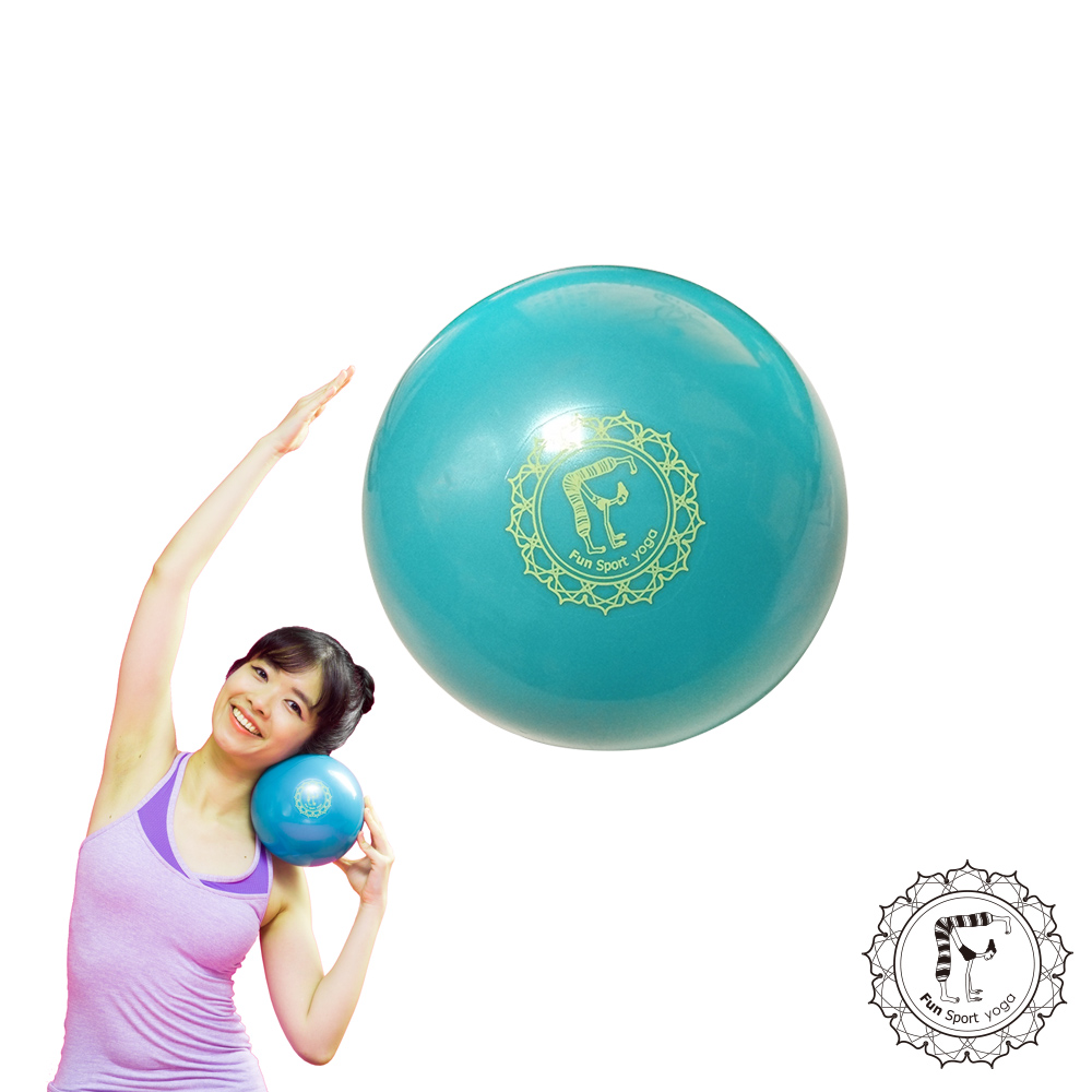 Fun Sport 小跟班瑜珈球(2顆)(20cm-綠)(抗力球/健身球/韻律球/遊戲球)