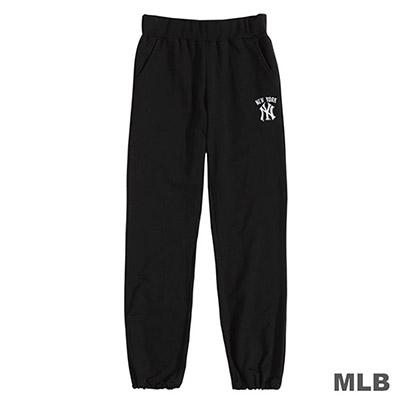 MLB-紐約洋基隊LOGO繡花縮口薄棉褲-黑 (女)