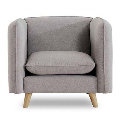 時尚屋-愛葛莎單人座灰色沙發