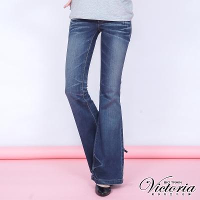 Victoria 銀河彩鑽喇巴褲-女-中藍