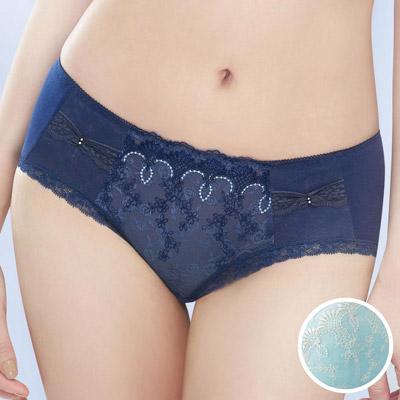 #  華歌爾-極塑美背系列M-3L中腰三角褲(綠寶石)
