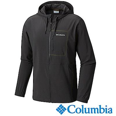 Columbia 哥倫比亞 男款-防潑防曬連帽外套-深灰(UAE06390DY)