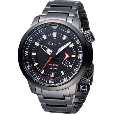 CITIZEN PROMASTER 全方位休閒時尚運動錶(BJ7086-57E)-黑/46mm