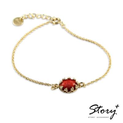 STORY故事銀飾-璽愛-天然寶石系列-花芯 純銀手鍊