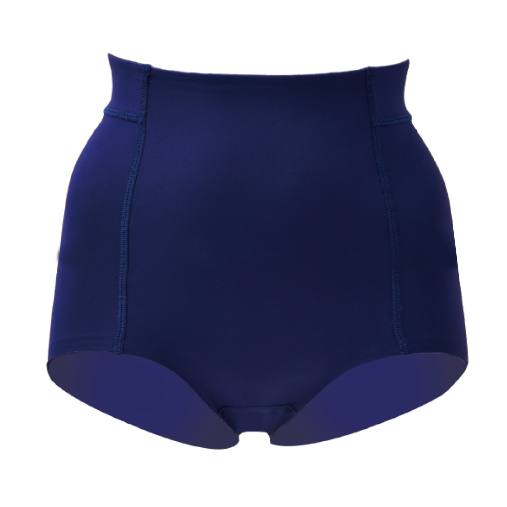 思薇爾 舒曼曲現系列64-82素面高腰平口束褲(經典藍)