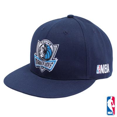 NBA-達拉斯小牛隊素面可調式嘻哈帽-深藍
