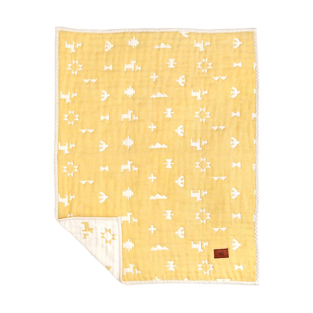 BOBO 印第安圖騰羊毛六層紗被(M)
