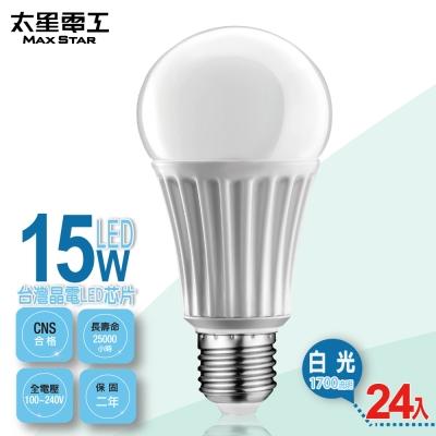 太星電工 LED燈泡E27/15W/白光(24入) A615W*24