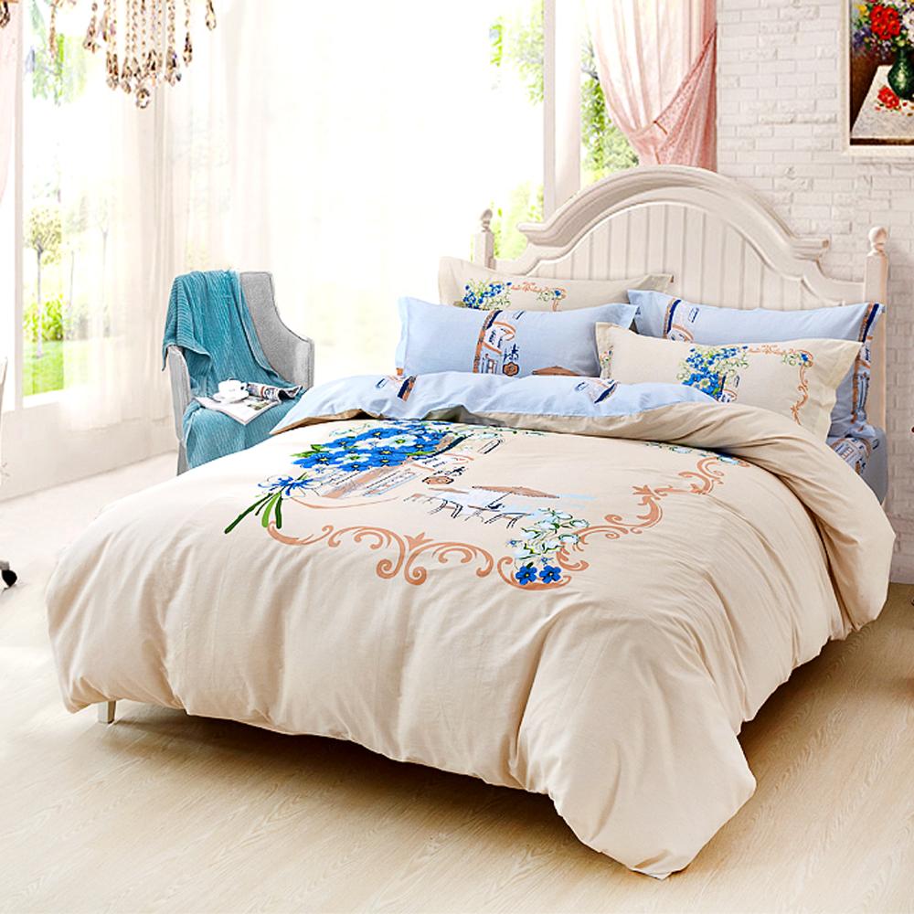 Grace Life 心願訴說 精梳純棉雙人兩用被床包四件組