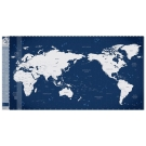 Indimap 環遊世界世界地圖海報(改版-雙層)-06深藍版