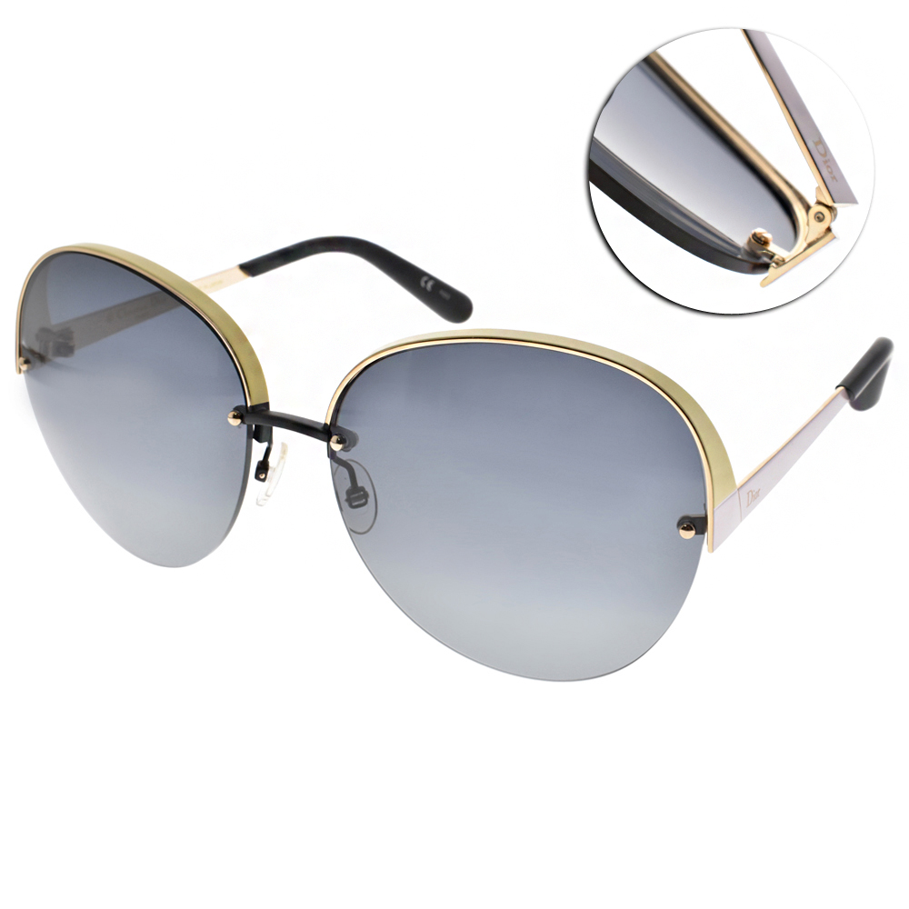 DIOR太陽眼鏡 造型半框款/黃#SUPERBE L81HD
