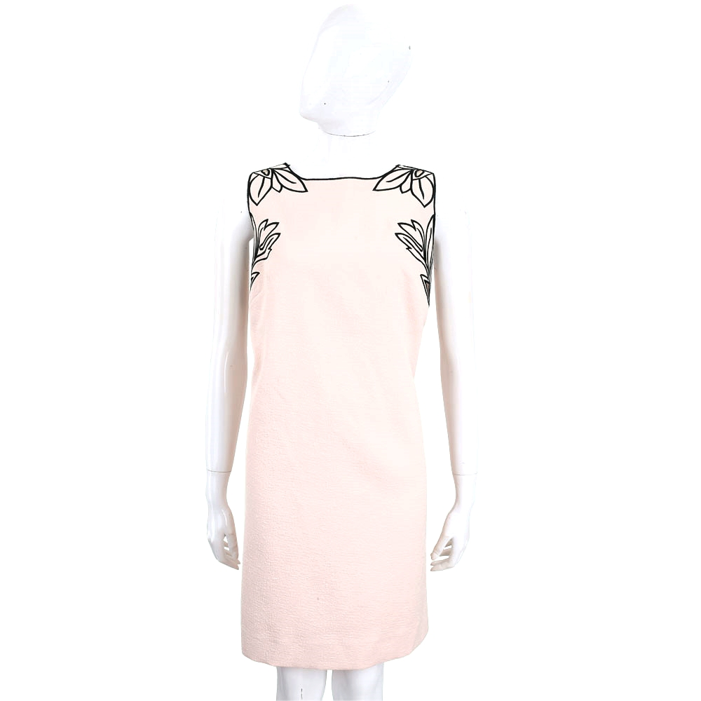 Maria Grazia Severi 粉裸色花卉圖案透膚無袖洋裝