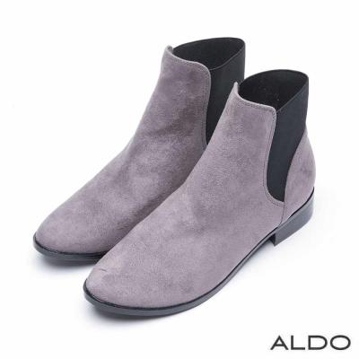ALDO 原色幾何異材質切線拼接短靴~沉穩灰色
