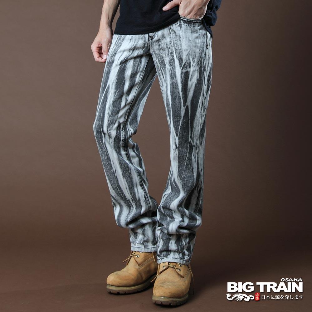 BIG TRAIN-手作潮洗小直筒褲-鐵灰