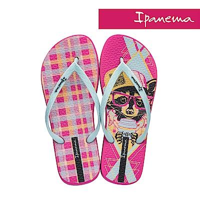IPANEMA 個性印彩夾腳拖鞋-粉紅小狗