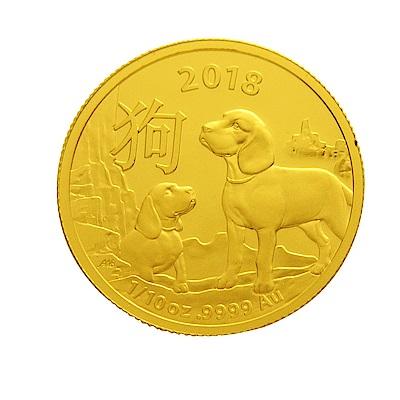 澳洲皇家生肖紀念幣-2018狗年生肖金幣(1/10盎司)