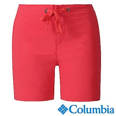Columbia 哥倫比亞 女款-防曬50防潑短褲- 紅色 (UAR40140RD)