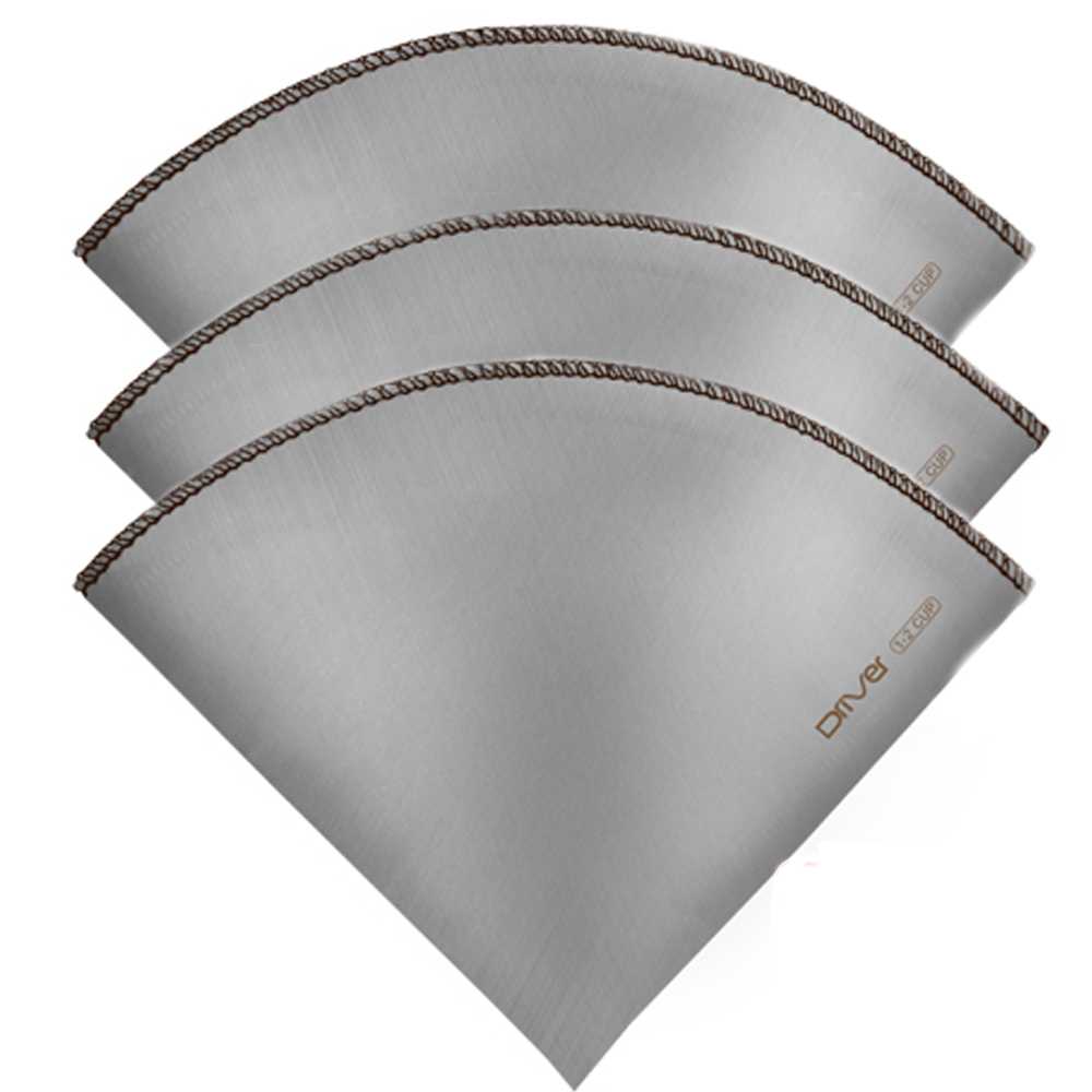 Driver不鏽鋼咖啡濾紙1-2cup-錐形3入